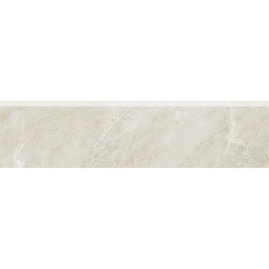 American Olean Mirasol Silver Marble Ceramic Bullnose Tile (Common: 3-in x 12-in; Actual: 2.87-in x 11.62-in)