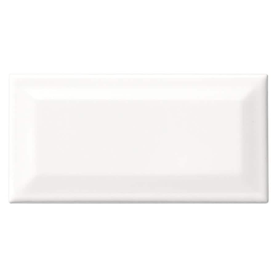American Olean Profiles 80-Pack Designer White Ceramic Wall Tile (Common: 3-in x 6-in; Actual: 6.03-in x 3.01-in)