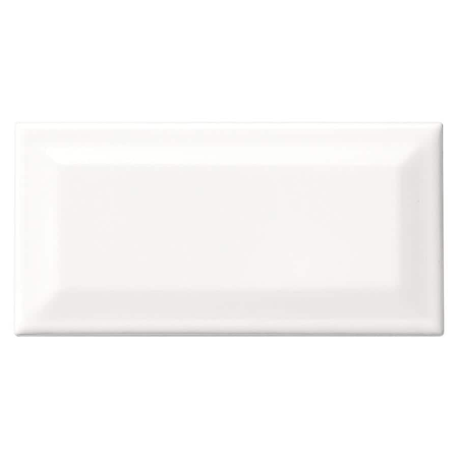 American Olean Profiles 80-Pack Ice White Ceramic Wall Tile (Common: 3-in x 6-in; Actual: 6.03-in x 3.01-in)