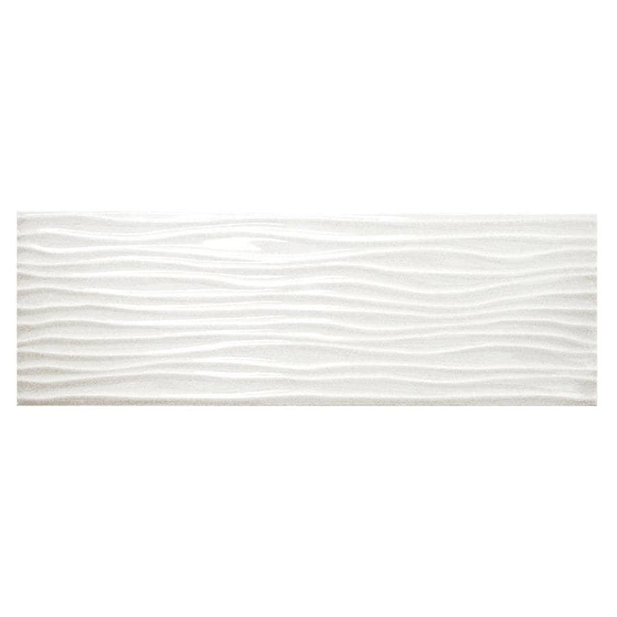 Shop american olean urban canvas 28 pack gloss ice white ceramic american olean urban canvas 28 pack gloss ice white ceramic wall tile common dailygadgetfo Gallery