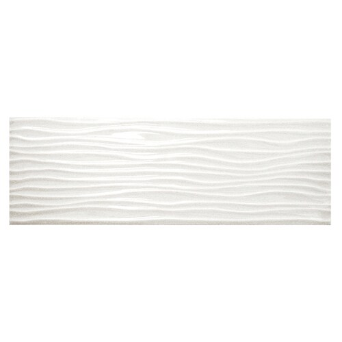 American Olean Urban Canvas 28 Pack Gloss Ice White 4 In X