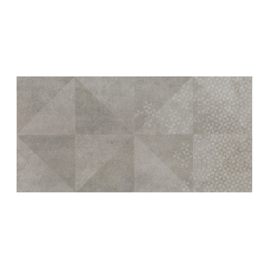 American Olean Colt Gray Thru Body Porcelain Floor and Wall Tile (Common: 12-in x 24-in; Actual: 23.375-in x 11.625-in)