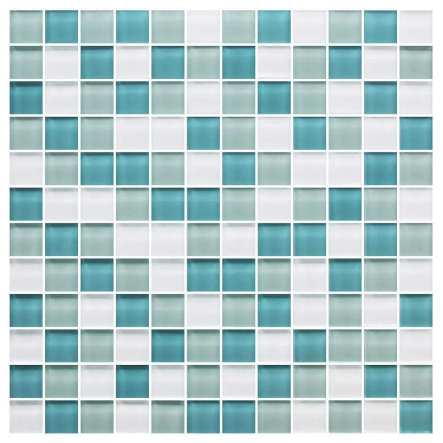 American Olean Color Appeal Sea Pearl 12 In X 12 In Glass