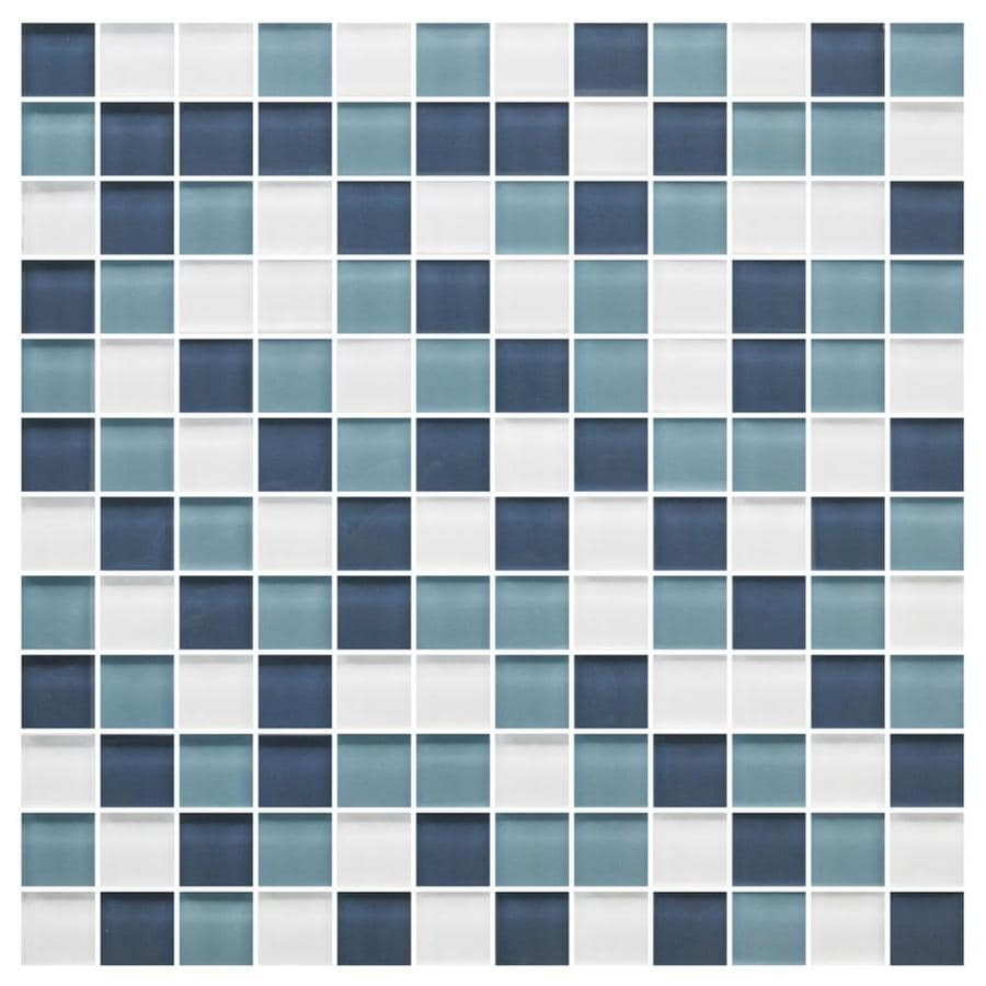 Shop American Olean Color Appeal Blue Moon Uniform Squares Mosaic ...