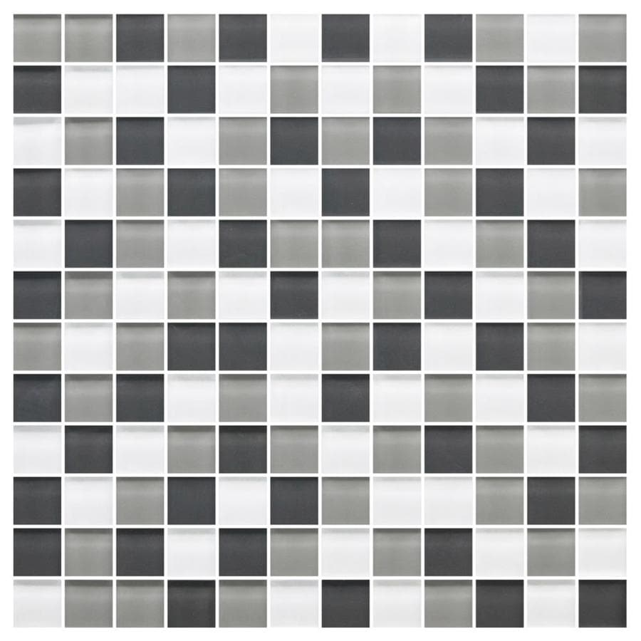American Olean Color Appeal Silver Spring Uniform Squares Mosaic Glass Wall Tile (Common: 12-in X 12-in; Actual: 11.75-in x 11.75-in)