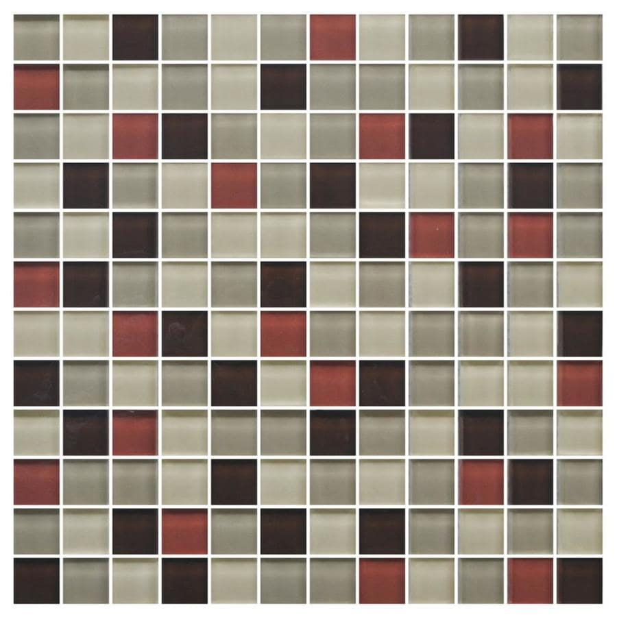 Shop American Olean Color Appeal Earth Fire Uniform Squares Mosaic Glass Wall Tile Common 12