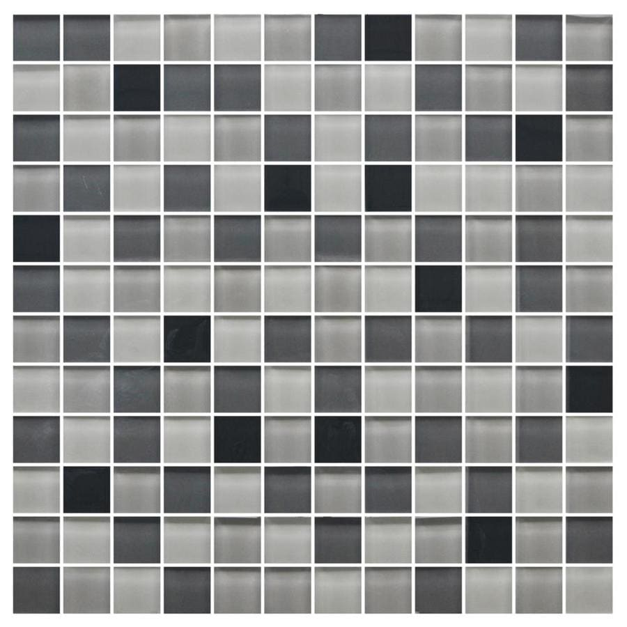 American Olean Color Appeal Midnight Sky Uniform Squares Mosaic Glass Wall Tile (Common: 12-in X 12-in; Actual: 11.75-in x 11.75-in)