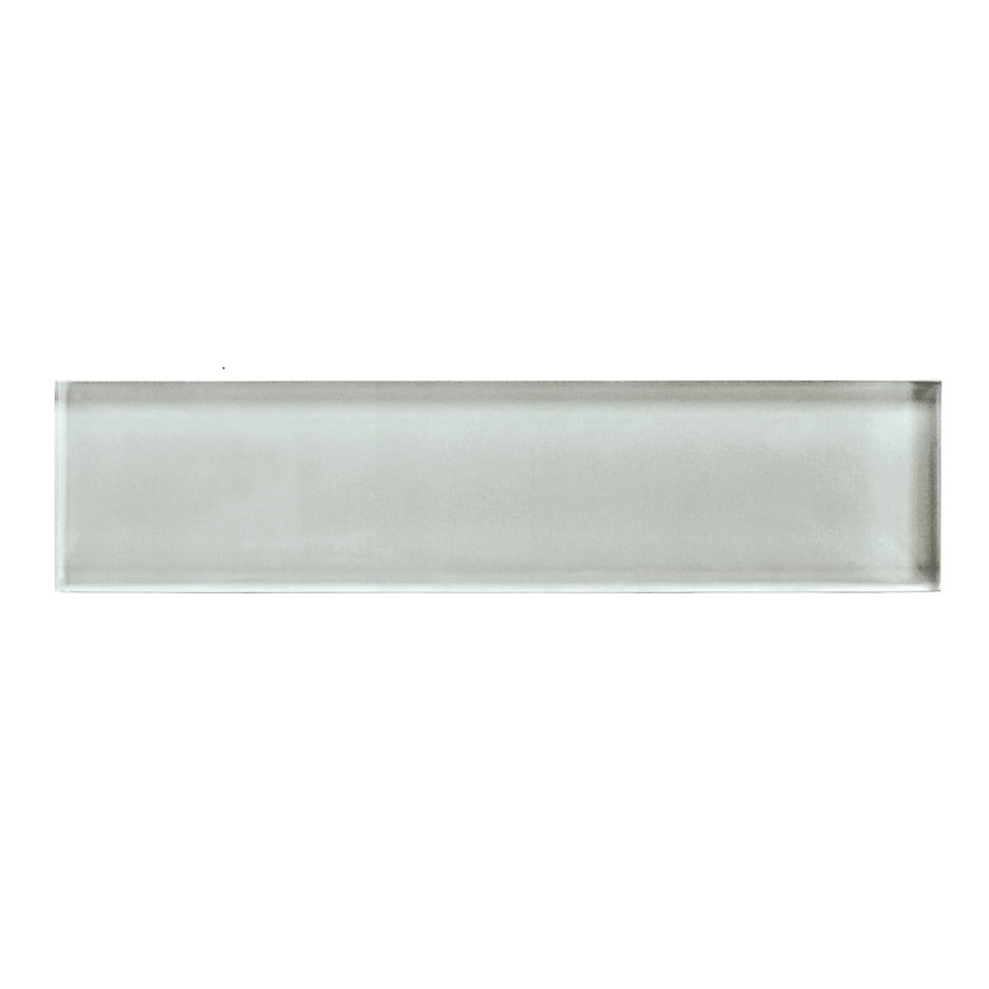 American Olean Color Appeal Silver Cloud Glass Wall Tile (Common: 2-in x 8-in; Actual: 1.87-in x 7.87-in)