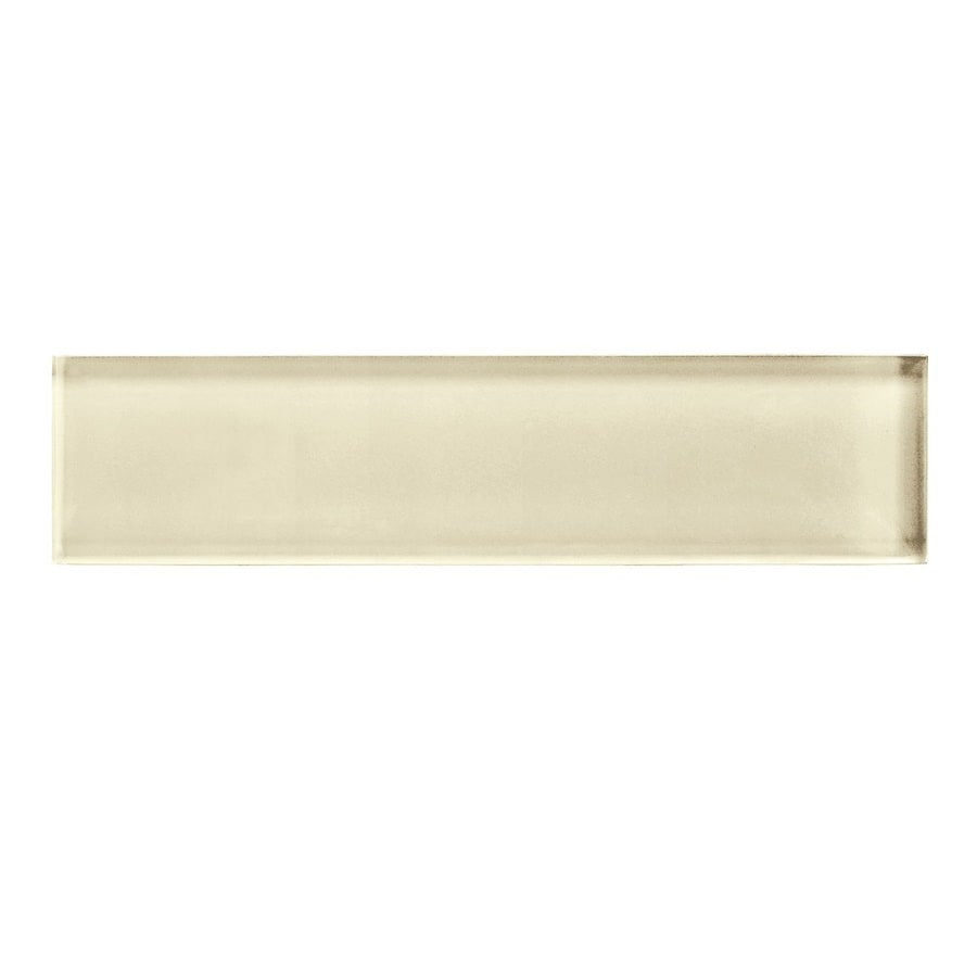 American Olean Color Appeal Cloud Cream Glass Wall Tile (Common: 2-in x 8-in; Actual: 1.87-in x 7.87-in)