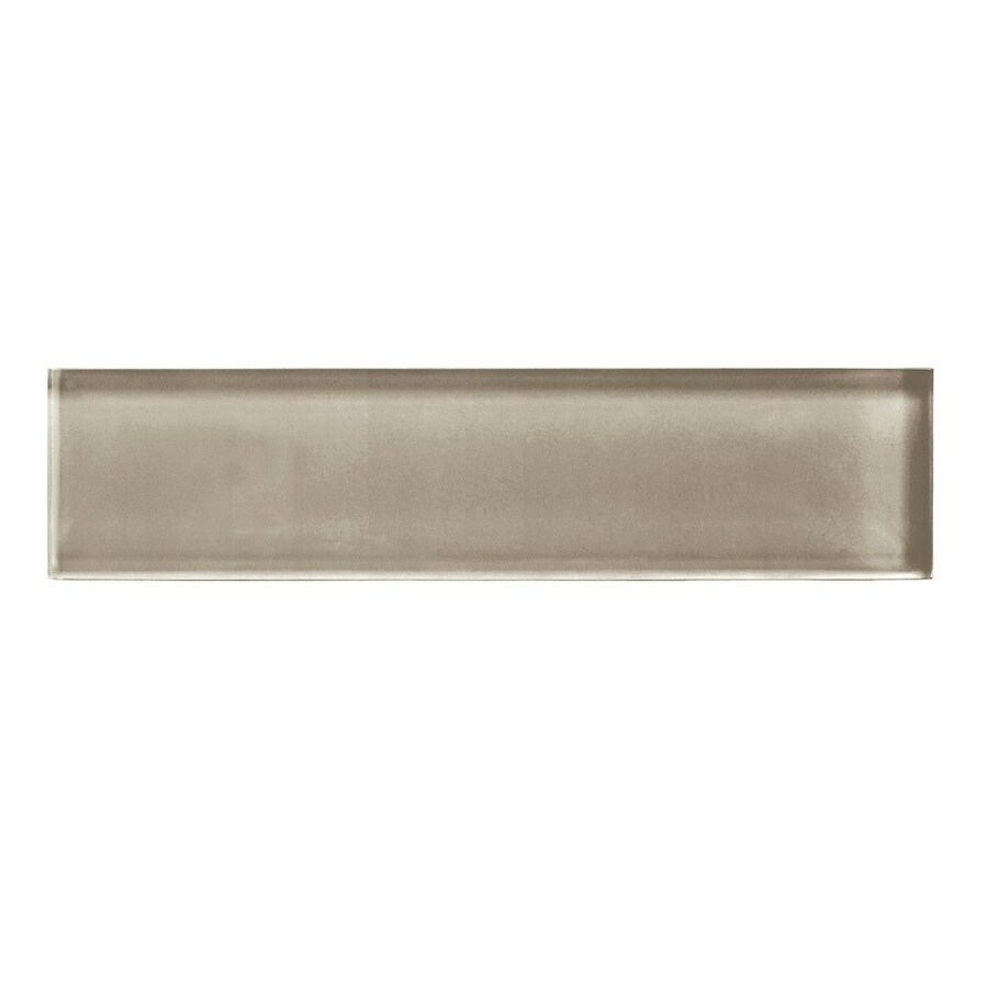 American Olean Color Appeal Plaza Taupe Glass Wall Tile (Common: 2-in x 8-in; Actual: 1.87-in x 7.87-in)