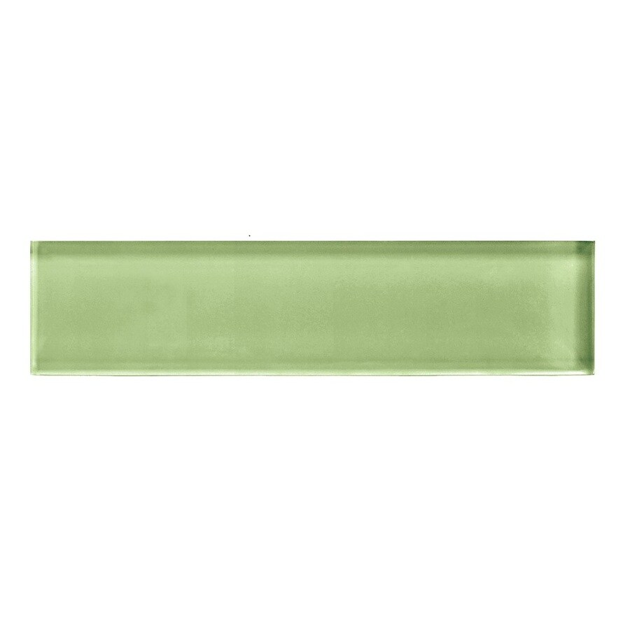 American Olean Color Appeal Grasshopper Glass Wall Tile (Common: 2-in x 8-in; Actual: 1.87-in x 7.87-in)