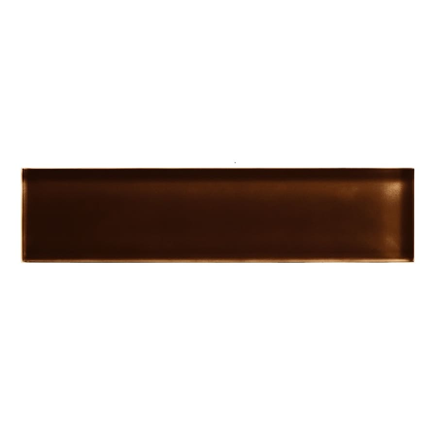 American Olean Color Appeal Copper Brown Glass Wall Tile (Common: 2-in x 8-in; Actual: 1.87-in x 7.87-in)