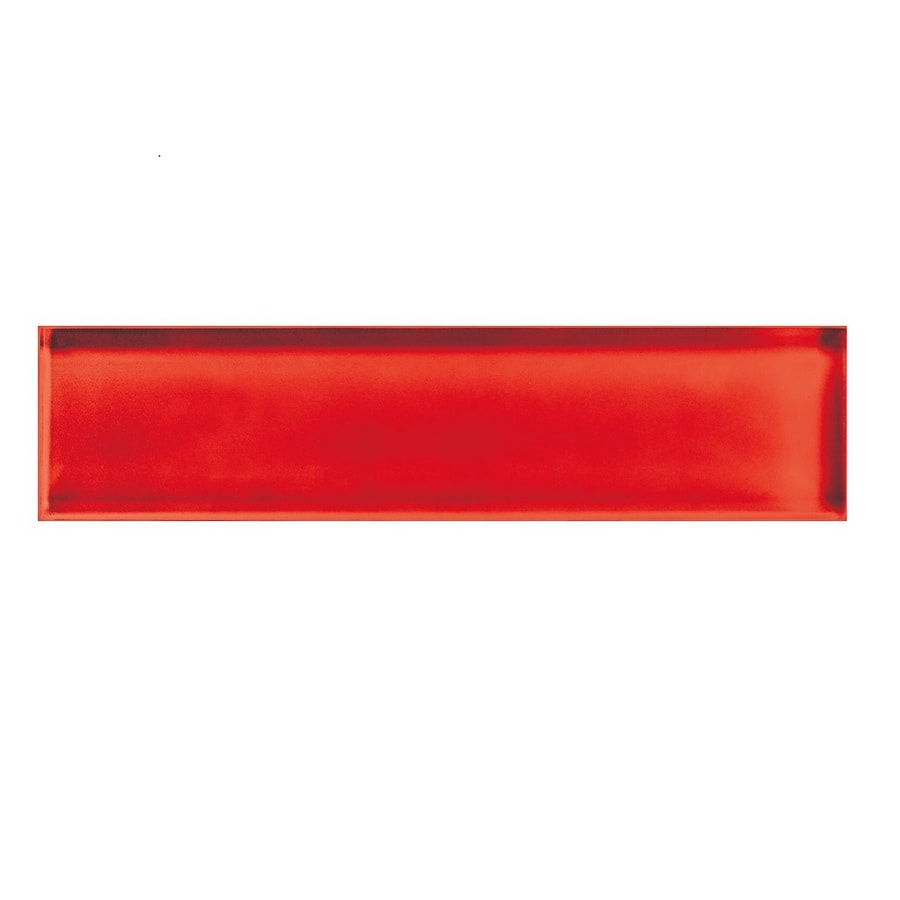 American Olean Color Appeal Cherry Glass Wall Tile (Common: 2-in x 8-in; Actual: 1.87-in x 7.87-in)