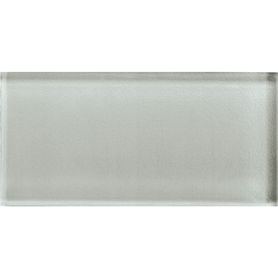 American Olean Color Appeal Silver Cloud Glass Wall Tile (Common: 3-in x 6-in; Actual: 2.87-in x 5.87-in)