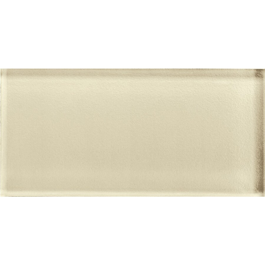 American Olean Color Eal Cloud Cream Gl Wall Tile Common 3 In X