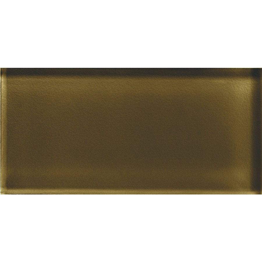 American Olean Color Appeal Sable Glass Wall Tile (Common: 3-in x 6-in; Actual: 2.87-in x 5.87-in)