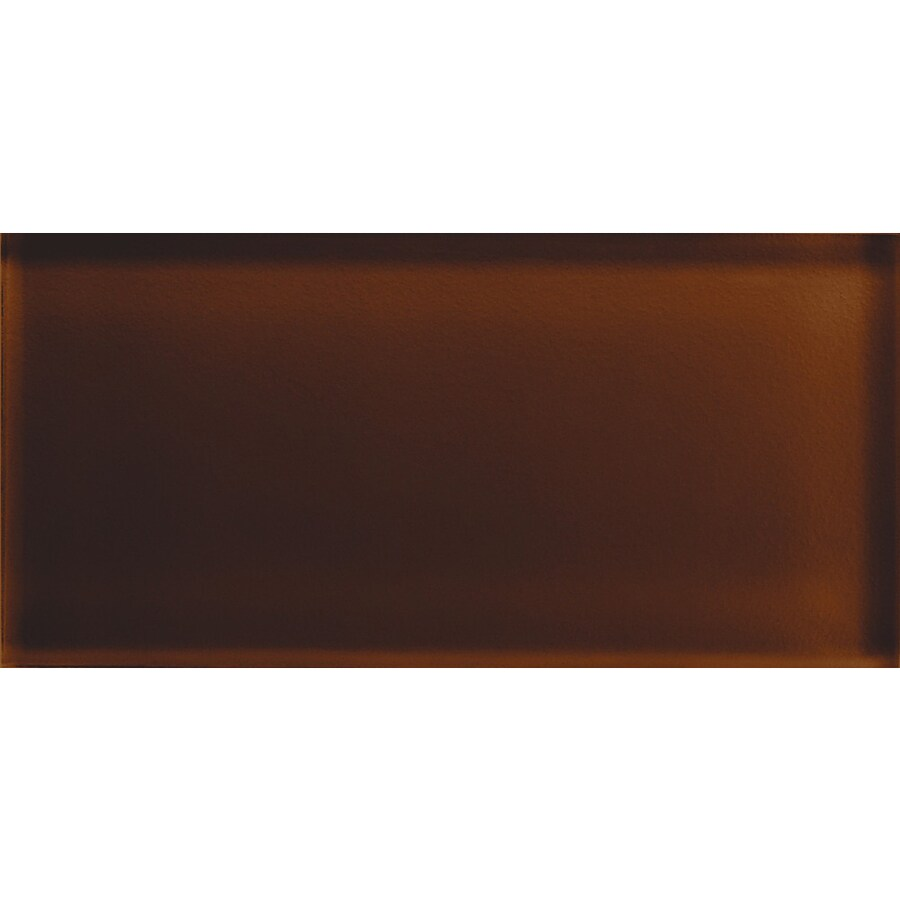 American Olean Color Appeal Copper Brown Glass Wall Tile (Common: 3-in x 6-in; Actual: 2.87-in x 5.87-in)
