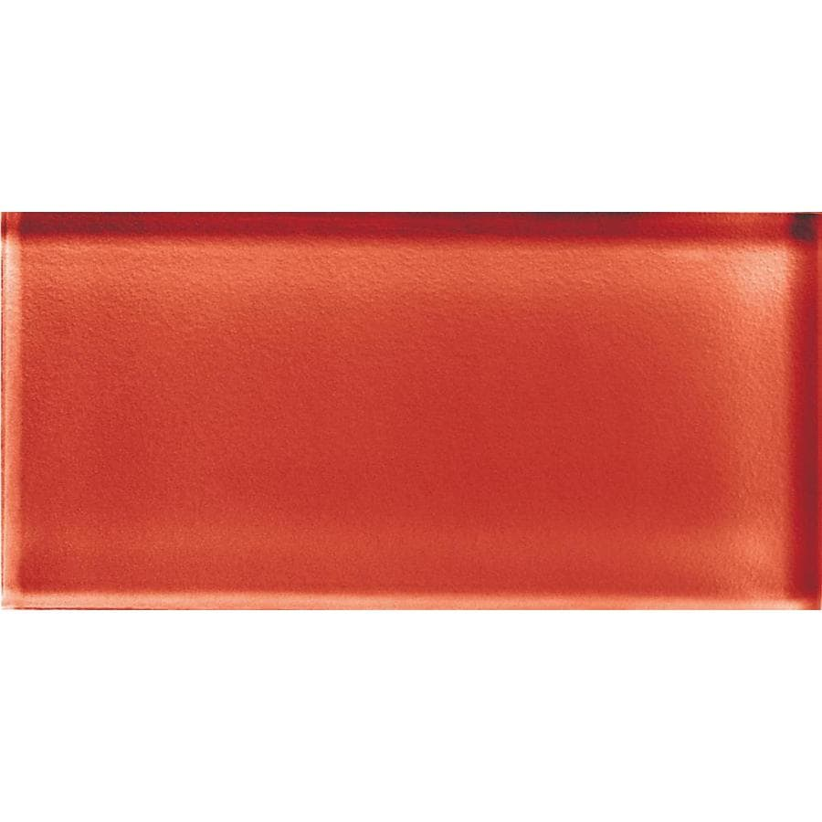 American Olean Color Appeal Auburn Glass Wall Tile (Common: 3-in x 6-in; Actual: 2.87-in x 5.87-in)