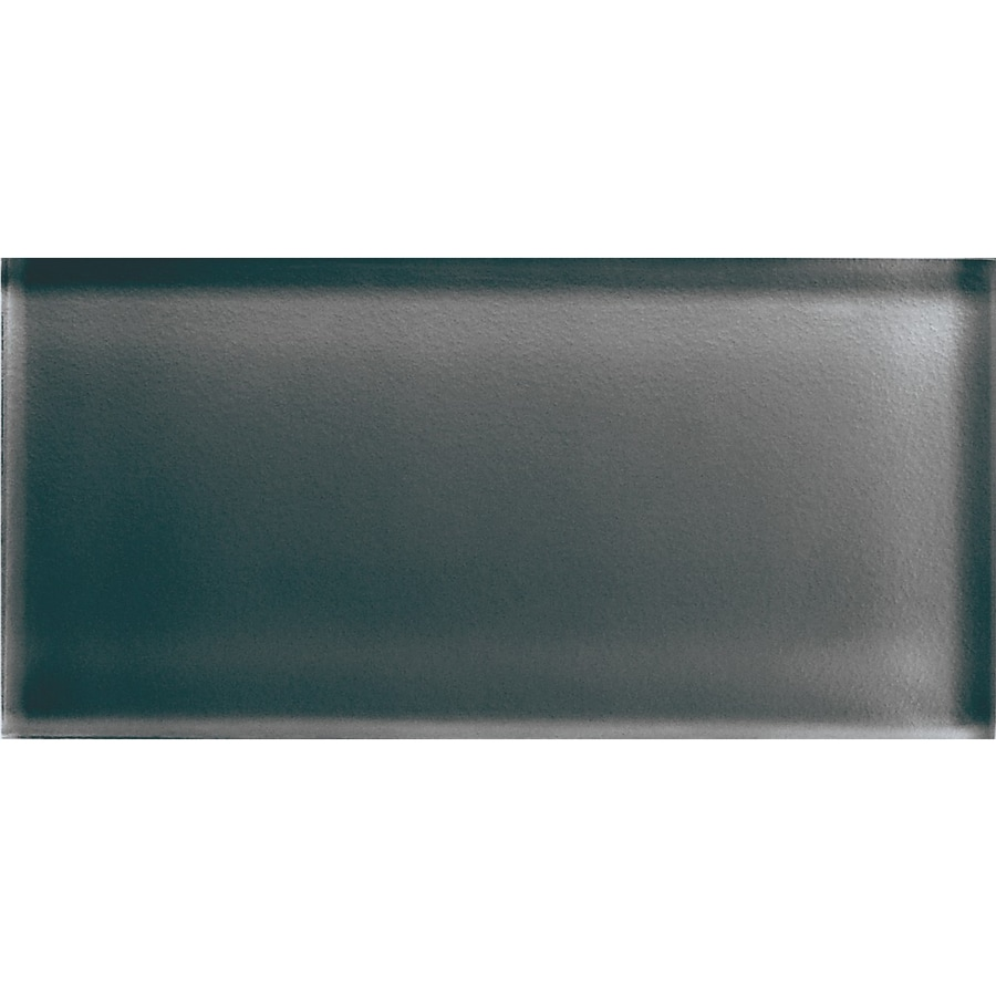 American Olean Color Appeal Charcoal Gray Glass Wall Tile (Common: 3-in x 6-in; Actual: 2.87-in x 5.87-in)