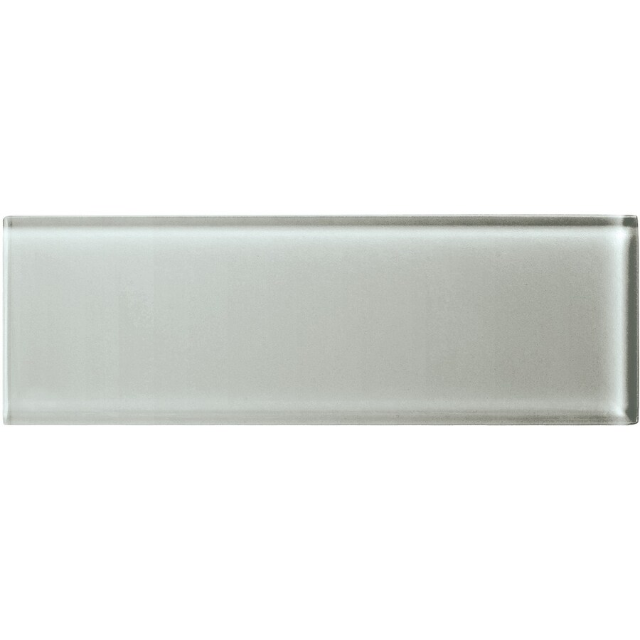 American Olean Color Appeal Silver Cloud Glass Wall Tile (Common: 4-in x 12-in; Actual: 3.87-in x 11.75-in)