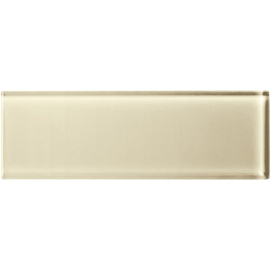 American Olean Color Appeal Cloud Cream Glass Wall Tile (Common: 4-in x 12-in; Actual: 3.87-in x 11.75-in)