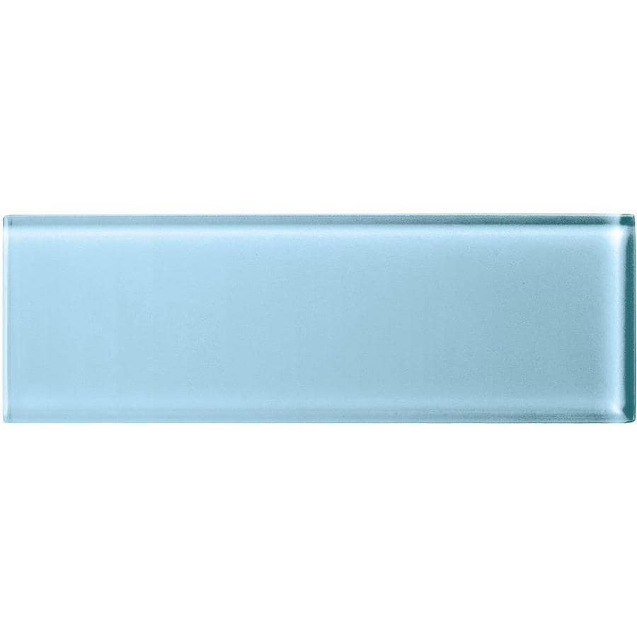 American Olean Color Appeal Powder Glass Wall Tile (Common: 4-in x 12-in; Actual: 3.87-in x 11.75-in)