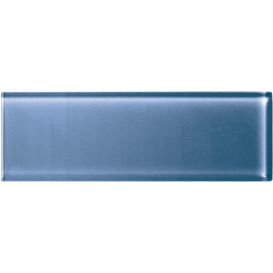 American Olean Color Appeal Dusk Glass Wall Tile (Common: 4-in x 12-in; Actual: 3.87-in x 11.75-in)