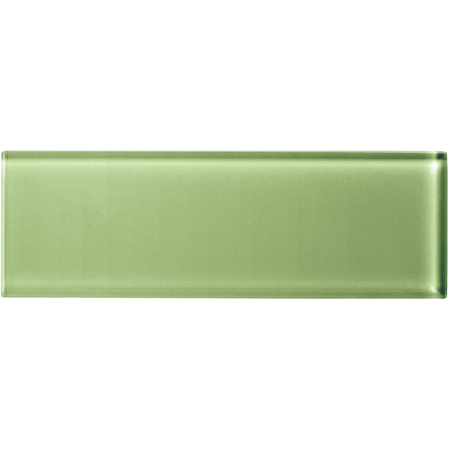 American Olean Color Appeal Grasshopper Glass Wall Tile (Common: 4-in x 12-in; Actual: 3.87-in x 11.75-in)