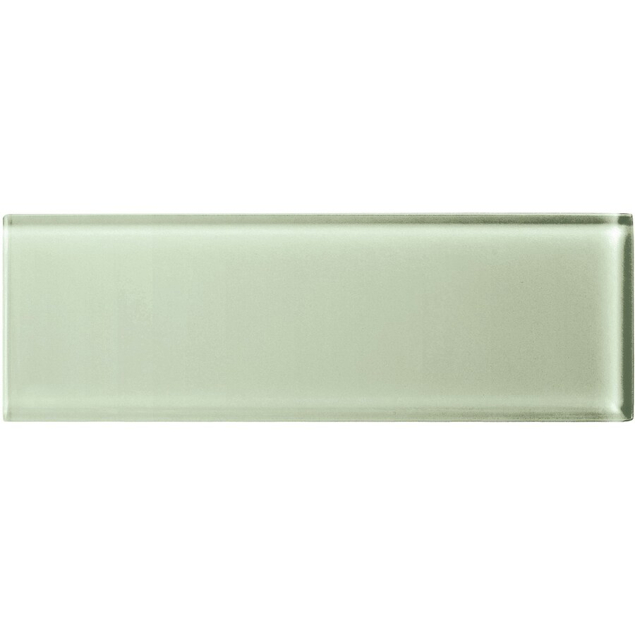 American Olean Color Appeal Celedon Glass Wall Tile (Common: 4-in x 12-in; Actual: 3.87-in x 11.75-in)