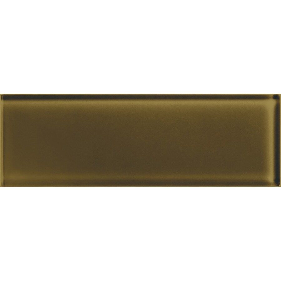 American Olean Color Appeal Sable Glass Wall Tile (Common: 4-in x 12-in; Actual: 3.87-in x 11.75-in)