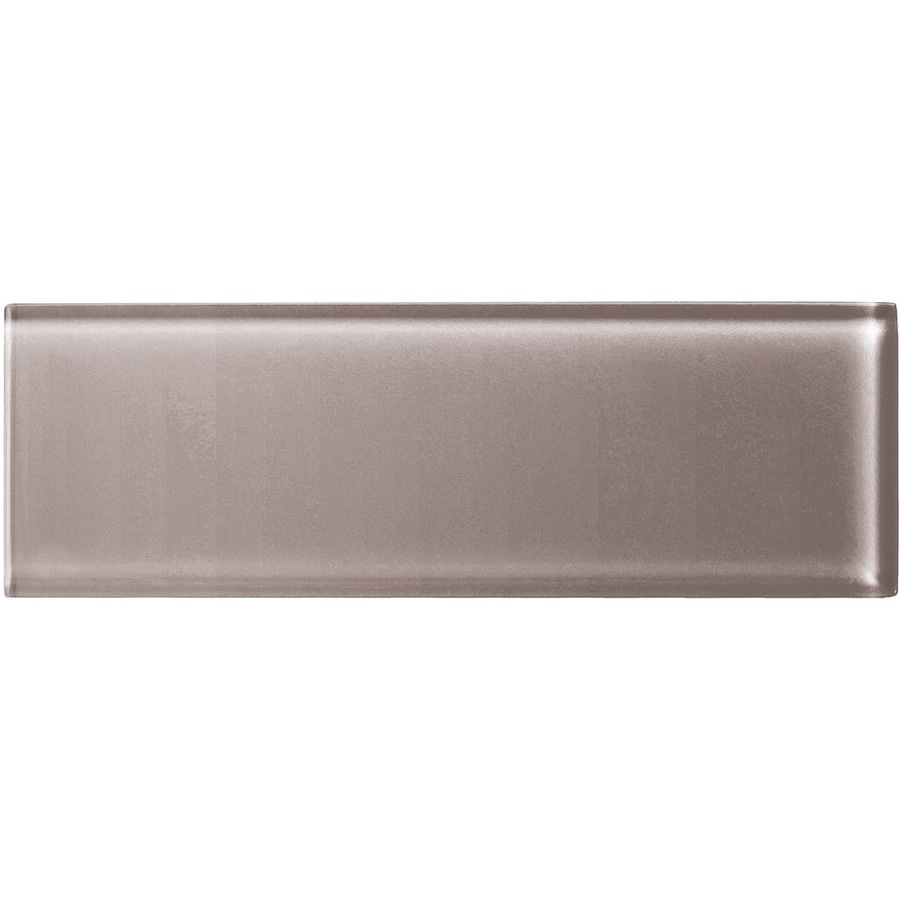 American Olean Color Appeal Orchid Glass Wall Tile (Common: 4-in x 12-in; Actual: 3.87-in x 11.75-in)