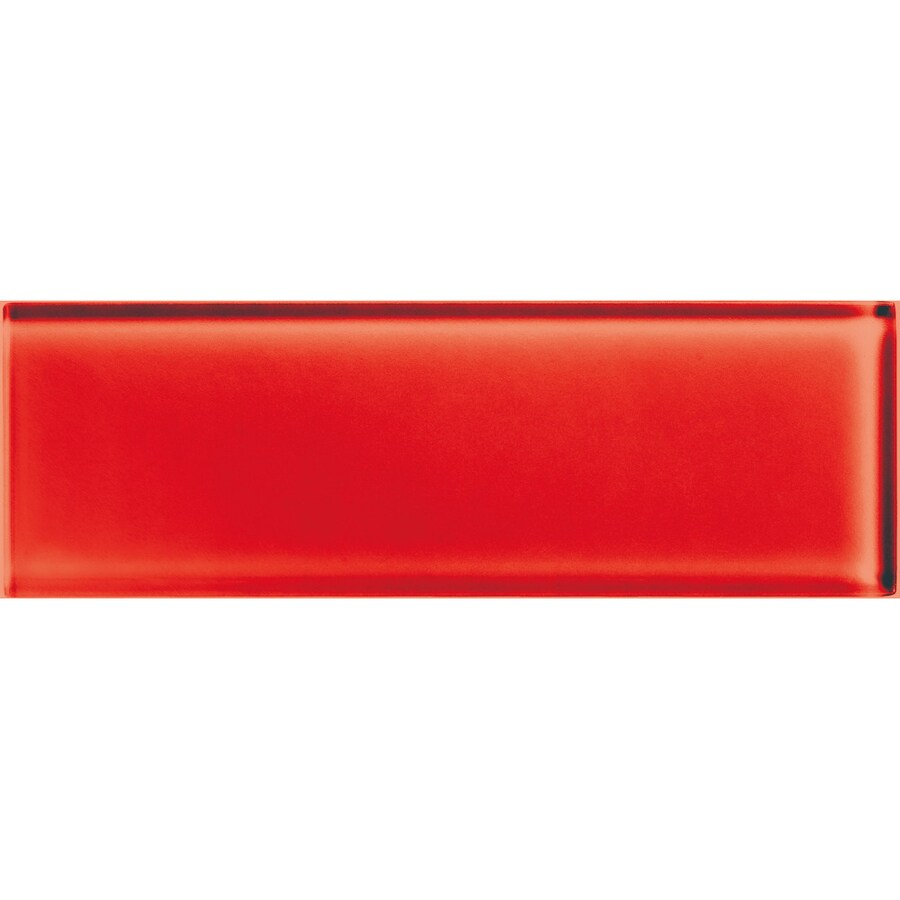 American Olean Color Appeal Cherry Glass Wall Tile (Common: 4-in x 12-in; Actual: 3.87-in x 11.75-in)