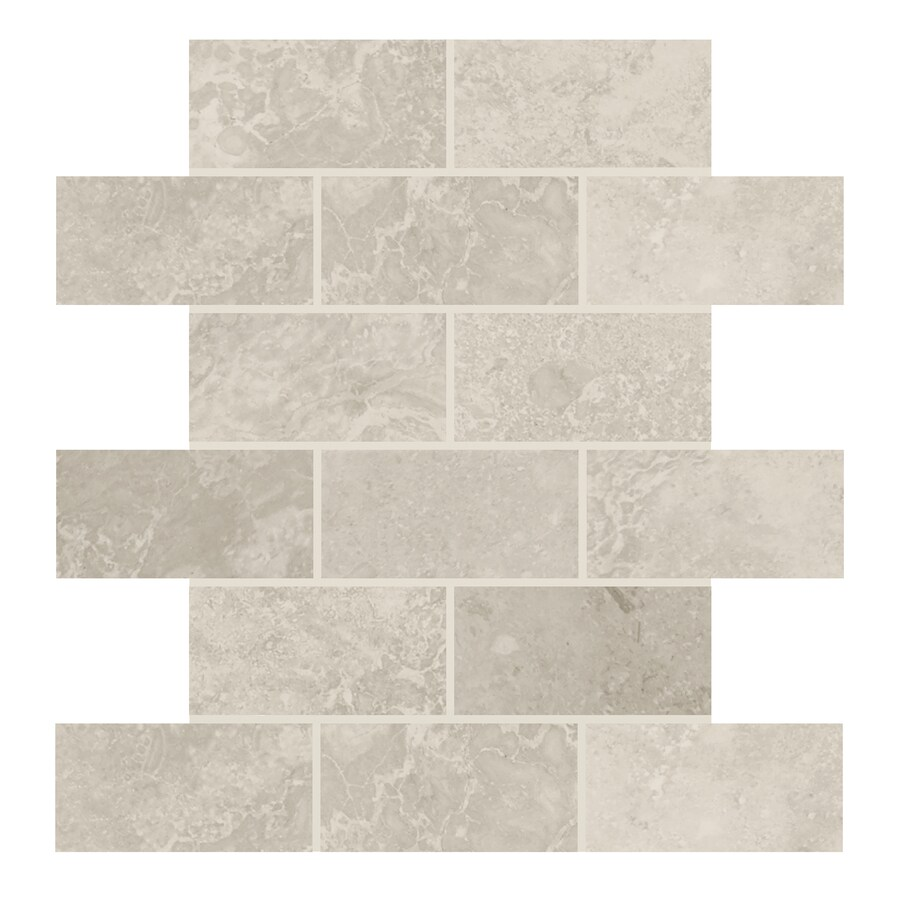 Shop american olean elara ashen tan brick mosaic ceramic wall tile american olean elara ashen tan brick mosaic ceramic wall tile common 12 in dailygadgetfo Gallery