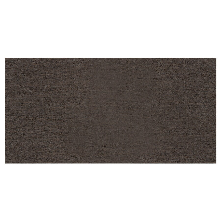 American Olean St Germain 8-Pack Chocolate Thru Body Porcelain Floor and Wall Tile (Common: 12-in x 24-in; Actual: 24-in x 12-in)