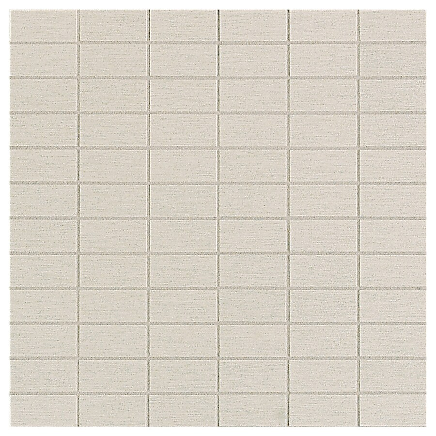American Olean St Germain 11-Pack Blanc Brick Mosaic Thru Body Porcelain Floor and Wall Tile (Common: 12-in x 12-in; Actual: 12-in x 12-in)