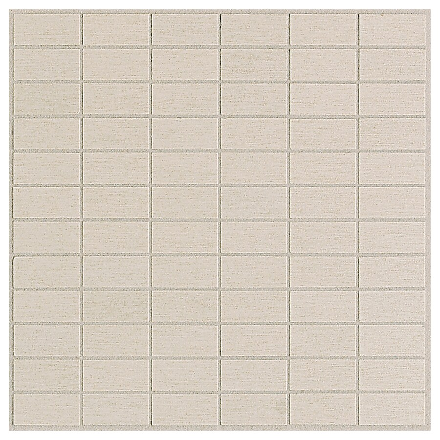 American Olean St Germain 11-Pack Creme Brick Mosaic Thru Body Porcelain Floor and Wall Tile (Common: 12-in x 12-in; Actual: 12-in x 12-in)