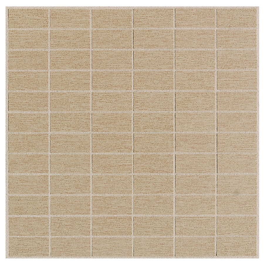 American Olean St Germain 11-Pack Chenile Brick Mosaic Thru Body Porcelain Floor and Wall Tile (Common: 12-in x 12-in; Actual: 12-in x 12-in)