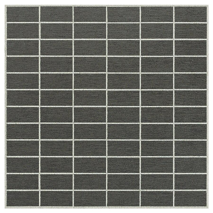 American Olean St Germain 11-Pack Sauge Brick Mosaic Thru Body Porcelain Floor and Wall Tile (Common: 12-in x 12-in; Actual: 12-in x 12-in)