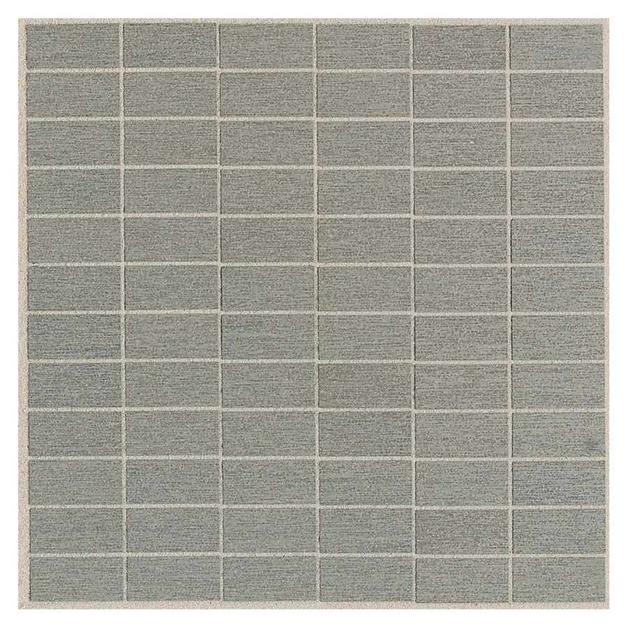 American Olean St Germain 11-Pack Gris Brick Mosaic Thru Body Porcelain Floor and Wall Tile (Common: 12-in x 12-in; Actual: 12-in x 12-in)