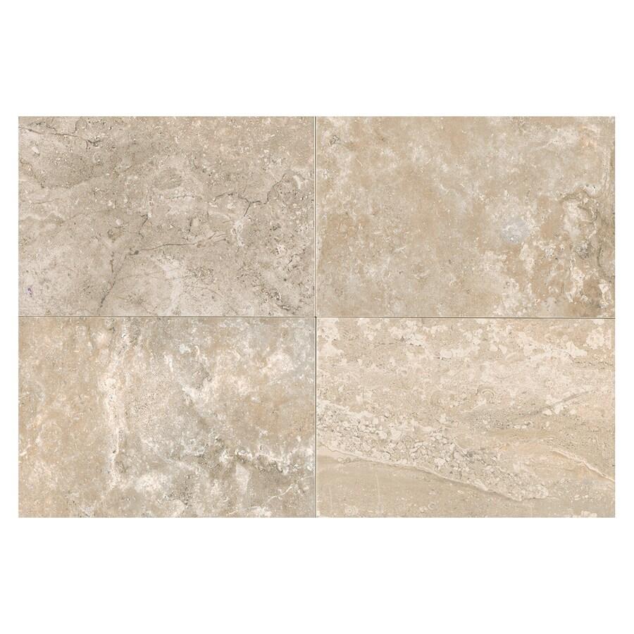 American Olean Laurel Heights 8-Pack Elevated Beige Porcelain Floor and Wall Tile (Common: 12-in x 24-in; Actual: 23.81-in x 11.81-in)