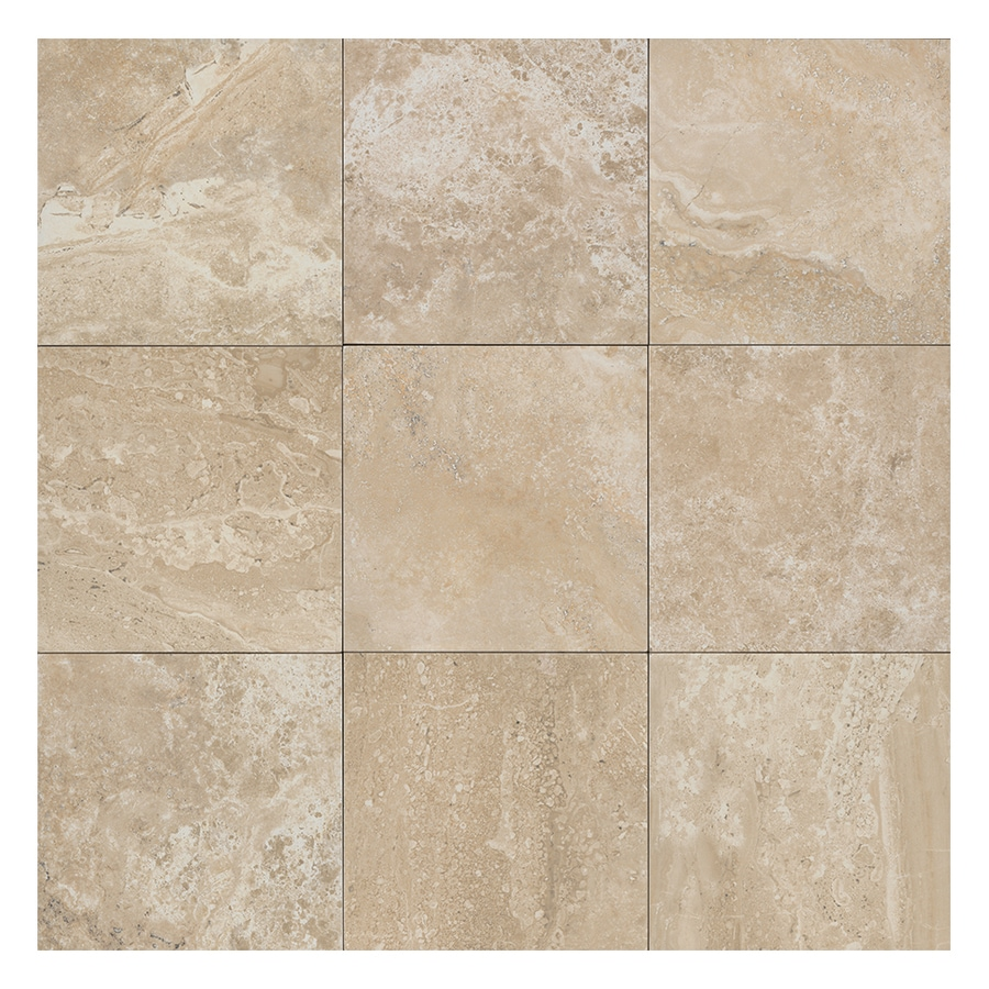American Olean Laurel Heights 4-Pack Elevated Beige Porcelain Floor and Wall Tile (Common: 24-in x 24-in; Actual: 23.81-in x 23.81-in)