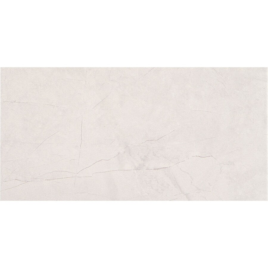 American Olean Bevalo 8-Pack Dove Porcelain Floor and Wall Tile (Common: 12-in x 24-in; Actual: 11.68-in x 23.62-in)