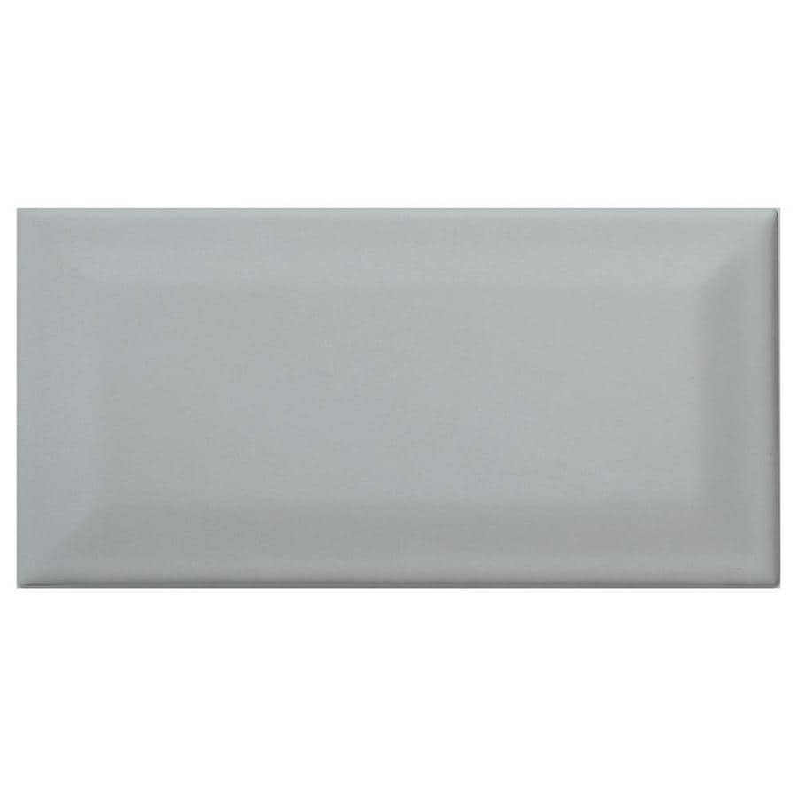 American olean profiles 80 pack light smoke 3 in x 6 in ceramic wall tile common 3 in x 6 in actual 3 01 in x 6 03 in