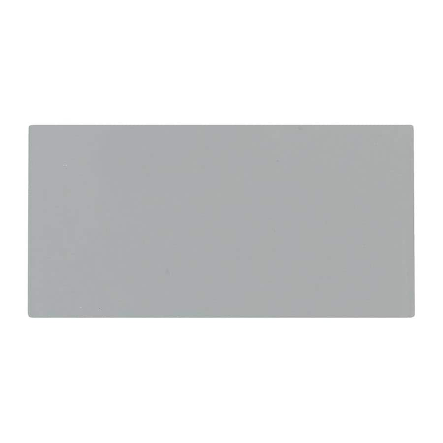 American Olean Profiles 100-Pack Gloss Light Smoke Ceramic Wall Tile (Common: 3-in x 6-in; Actual: 6-in x 3-in)