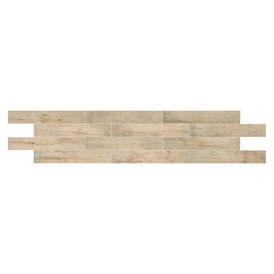 American Olean Historic Bridge 9-Pack Upper Ferry Wood Look Porcelain Floor And Wall Tile (Common: 6-in X 36-in; Actual: 5.87-in x 35.43-in)