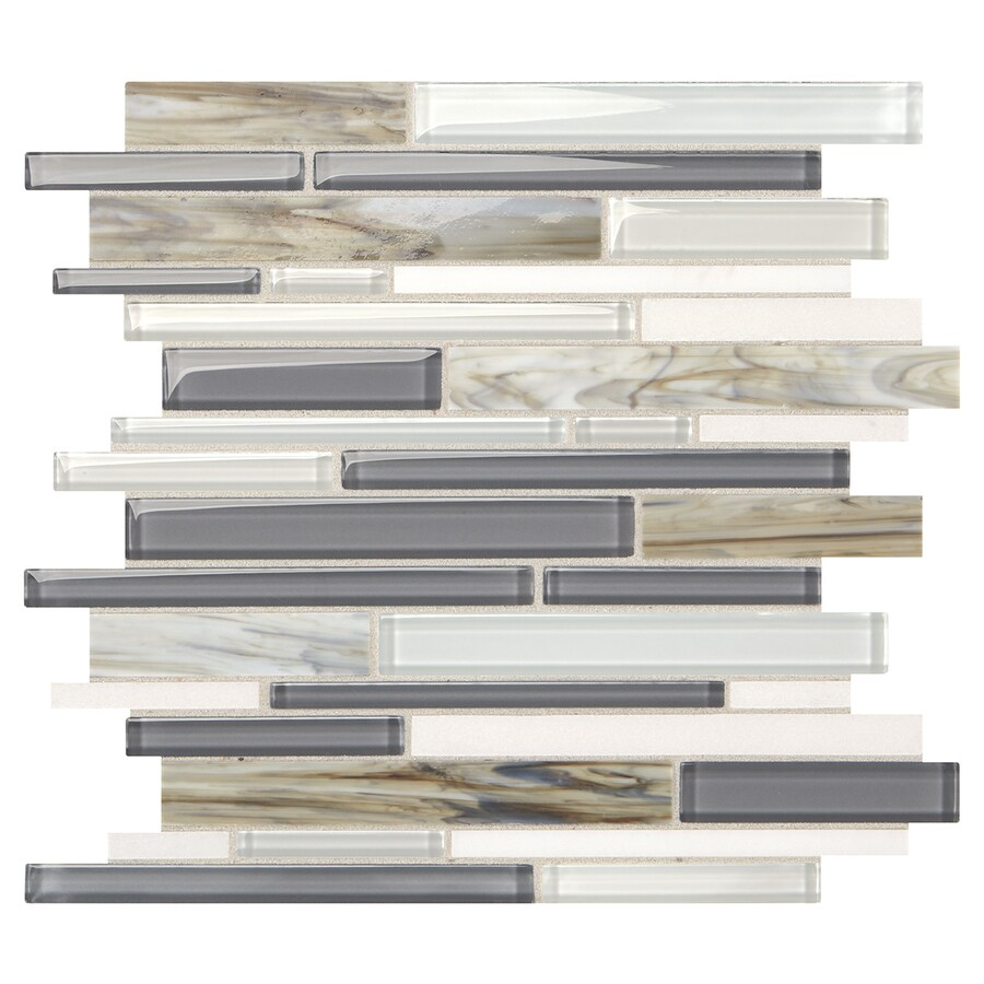 American Olean Stellaris Constella Glass Wall Tile (Common: 12-in x 13-in; Actual: 12.875-in x 12-in)