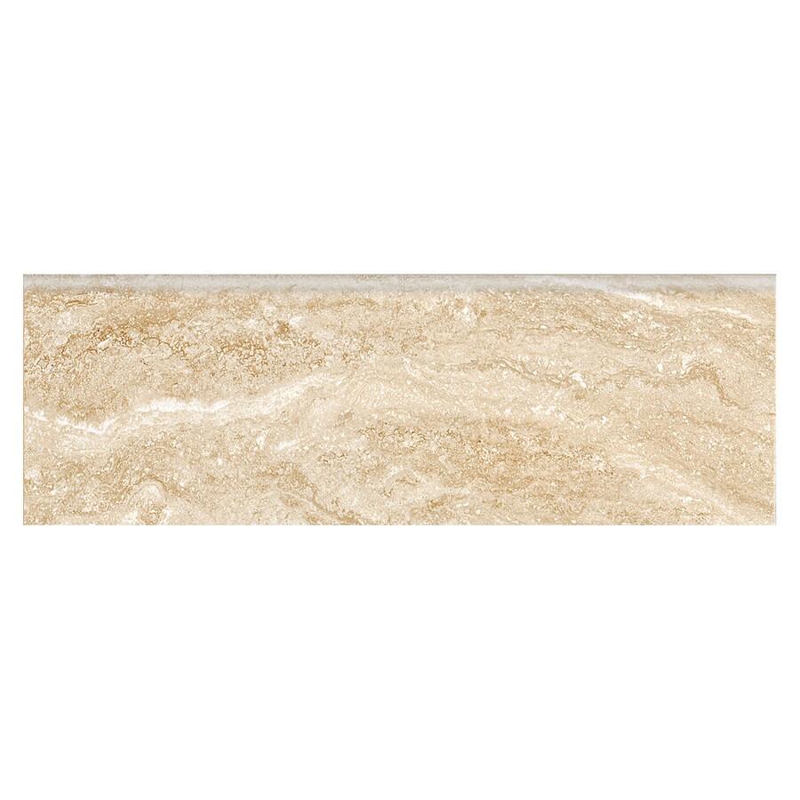 American Olean Wydview Sand Storm Ceramic Bullnose Tile (Common: 3-in x 9-in; Actual: 9-in x 3-in)