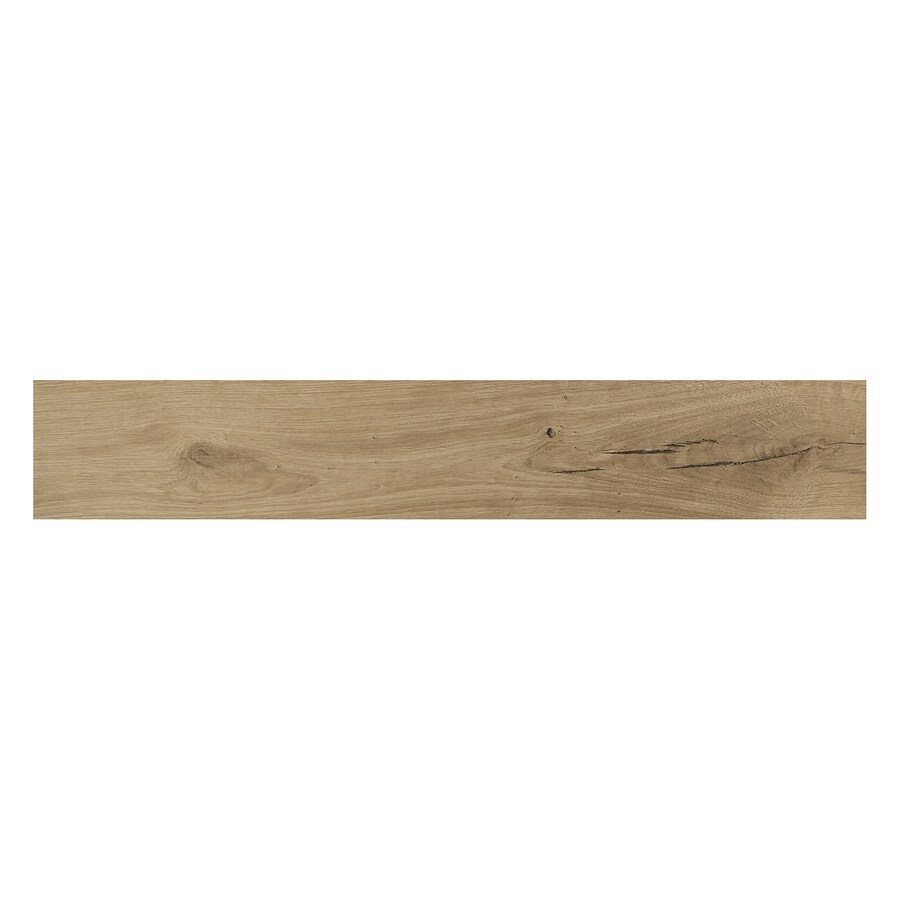 American Olean Woodstory Natural Oak Wood Look Porcelain Floor and Wall Tile (Common: 6-in x 36-in; Actual: 5.87-in x 35.43-in)