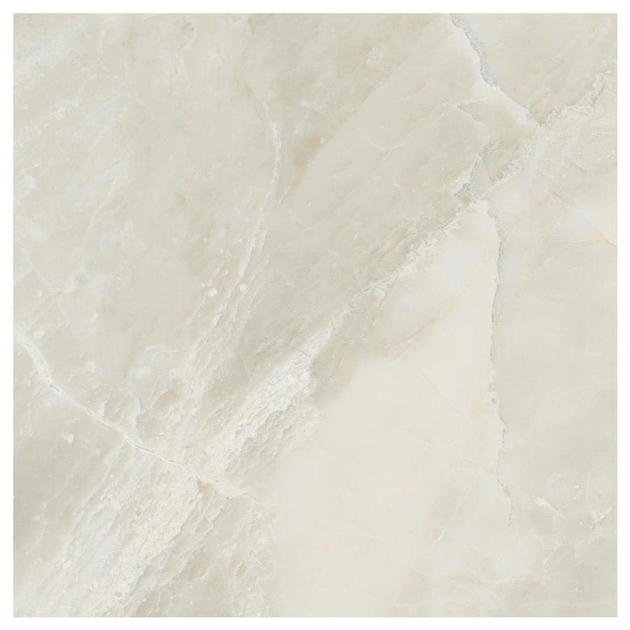 American Olean Mirasol 4-Pack Silver Marble Porcelain Floor and Wall Tile (Common: 24-in x 24-in; Actual: 23.44-in x 23.44-in)