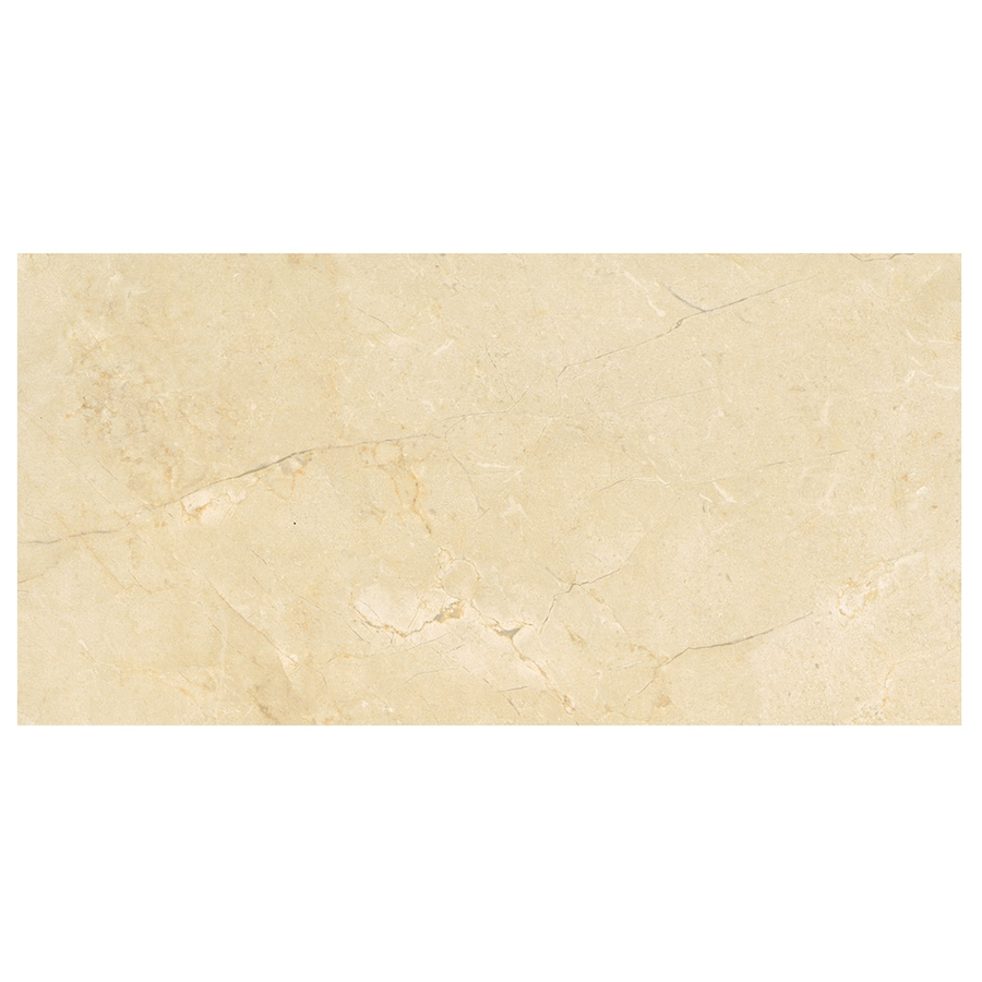 American Olean Mirasol 8-Pack Crema Laila Porcelain Floor and Wall Tile (Common: 12-in x 24-in; Actual: 23.44-in x 11.62-in)